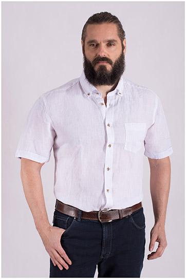 Camisas, Sport Manga Corta, 108502, BLANCO