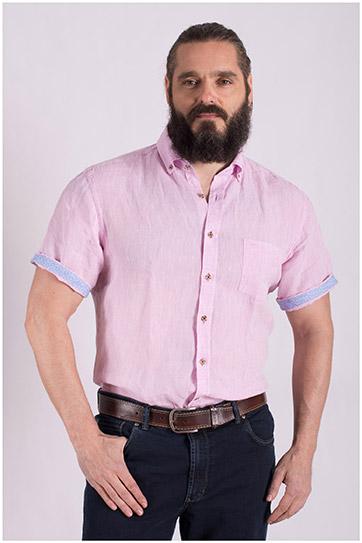 Camisas, Sport Manga Corta, 108502, ROSA