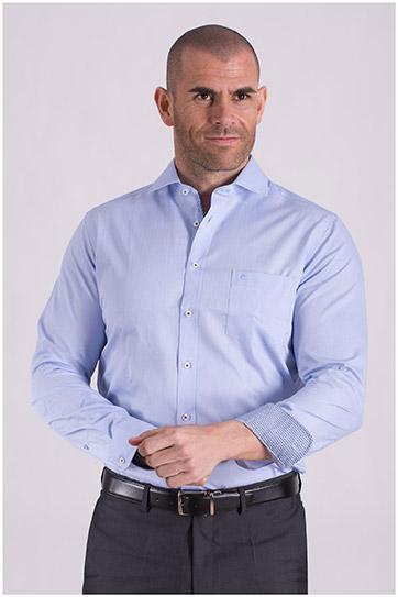 Camisas, Vestir Manga Larga, 108506, CELESTE