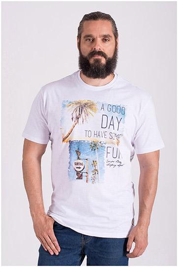 Sport, Camisetas M. Corta, 108511, BLANCO