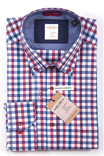 Camisas, Sport Manga Larga, 108559, GRANATE