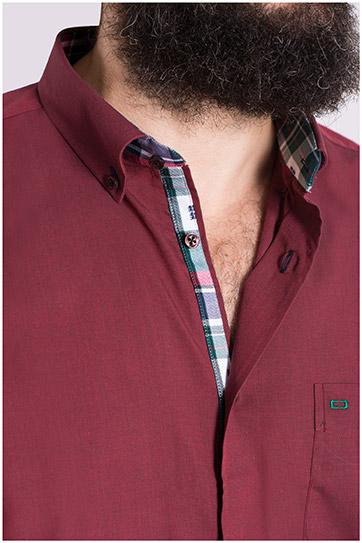 Camisas, Sport Manga Larga, 108560, GRANATE
