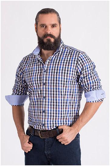 Camisas, Sport Manga Larga, 108603, MARINO