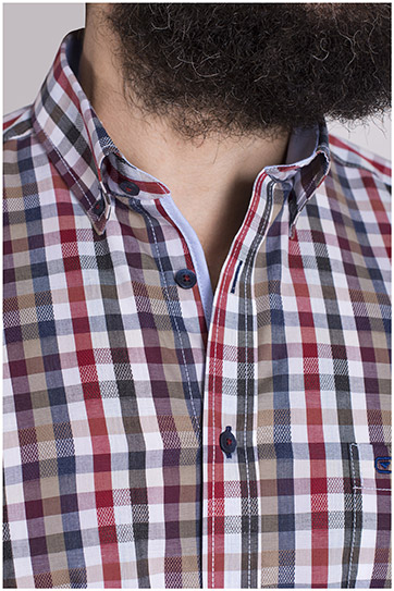 Camisas, Sport Manga Larga, 108603, GRANATE