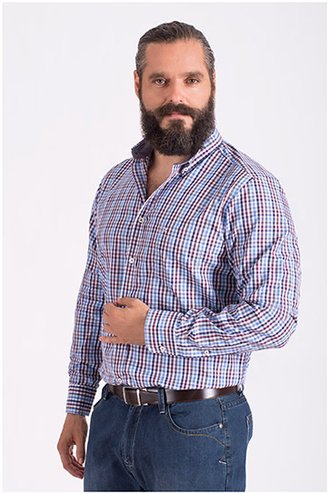 Camisas, Sport Manga Larga, 108605, GRANATE