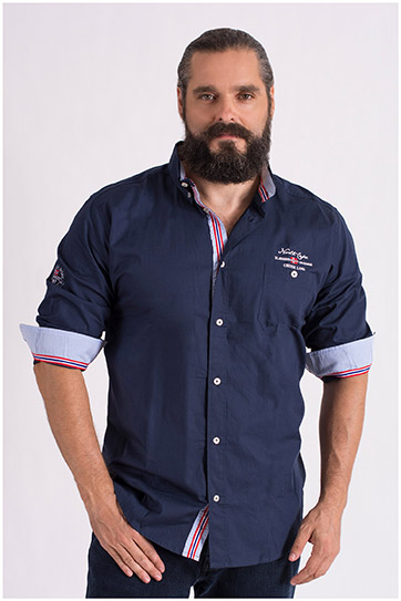 Camisas, Sport Manga Larga, 108649, MARINO