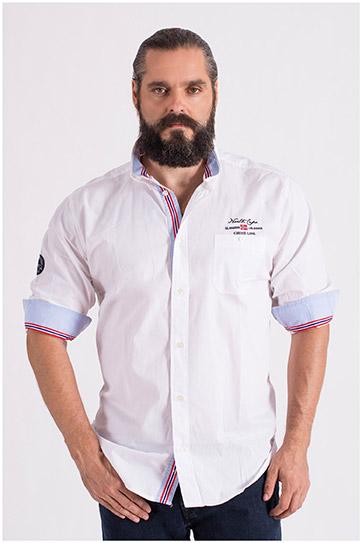 Camisas, Sport Manga Larga, 108649, BLANCO