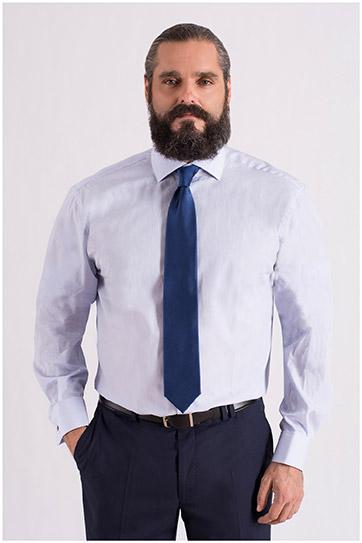 Camisas, Vestir Manga Larga, 108663, CELESTE