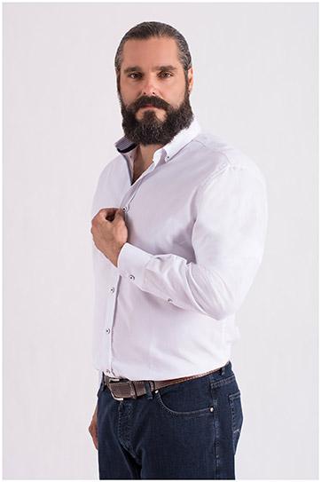 Camisas, Sport Manga Larga, 108669, BLANCO