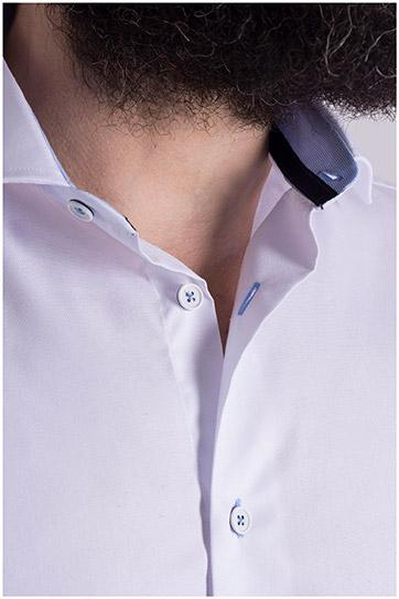 Camisas, Vestir Manga Larga, 108977, BLANCO