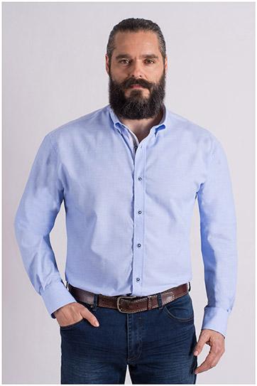 Camisas, Vestir Manga Larga, 108985, CELESTE