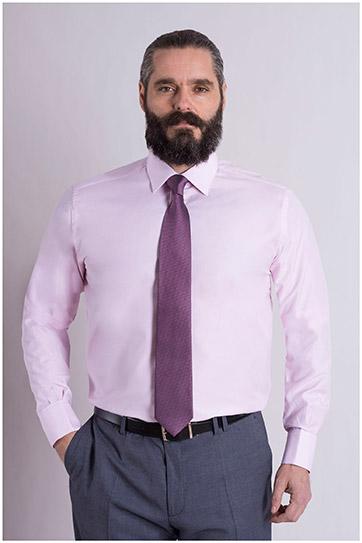 Camisas, Vestir Manga Larga, 108993, ROSA