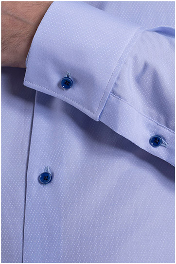 Camisas, Vestir Manga Larga, 108993, CELESTE