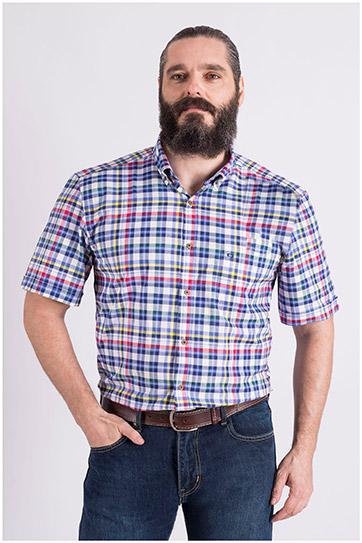 Camisas, Sport Manga Corta, 109040, MARINO