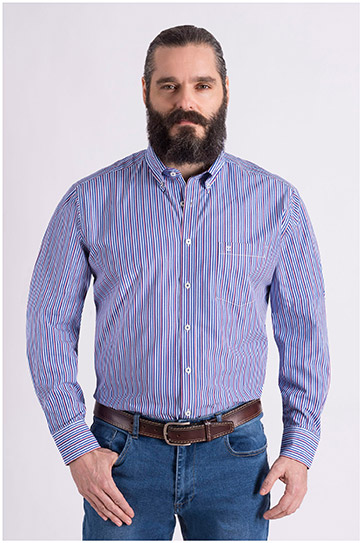Camisas, Sport Manga Larga, 109079, MARINO