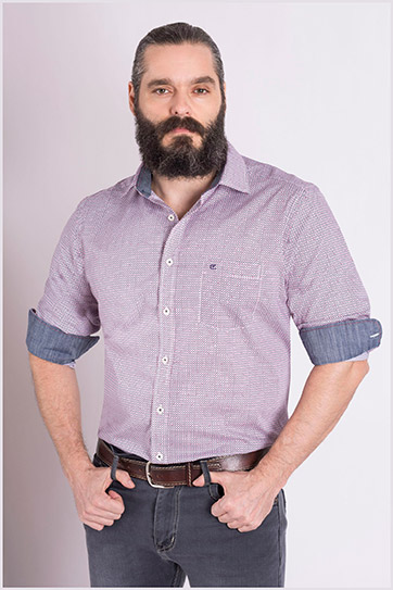 Camisas, Sport Manga Larga, 109083, MARINO