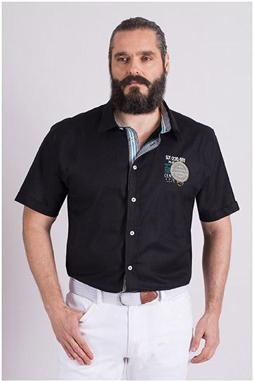 Camisas, Sport Manga Corta, 109132, NEGRO