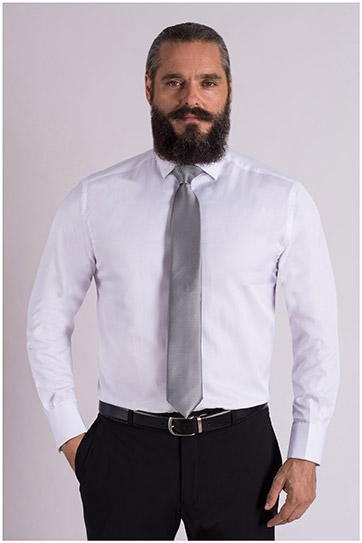 Camisas, Vestir Manga Larga, 109327, BLANCO