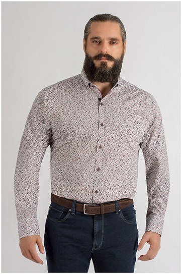 Camisas, Sport Manga Larga, 109328, GRANATE
