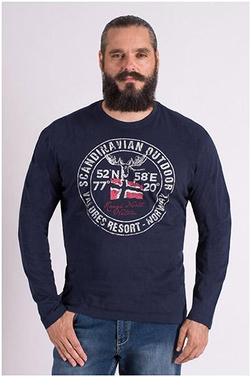 Sport, Camisetas M. Larga, 109384, MARINO