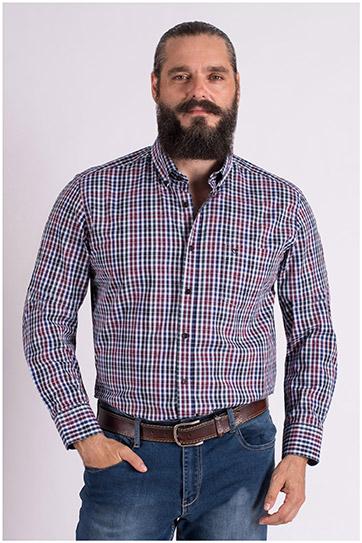 Camisas, Sport Manga Larga, 109396, MARINO
