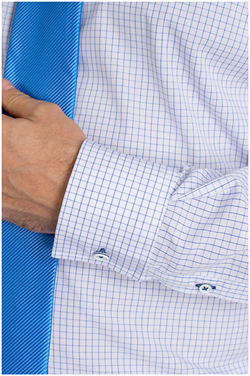 Camisas, Vestir Manga Larga, 109400, CELESTE
