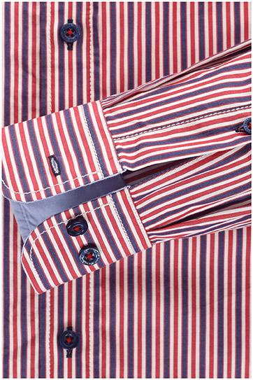 Camisas, Sport Manga Larga, 109514, ROJO