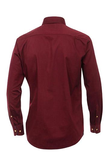 Camisas, Sport Manga Larga, 109520, BURDEOS