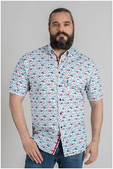 Camisas, Sport Manga Corta, 109588, BLANCO