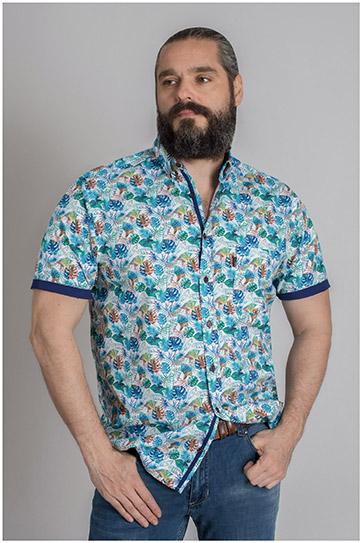 Camisas, Sport Manga Corta, 109591, MARINO