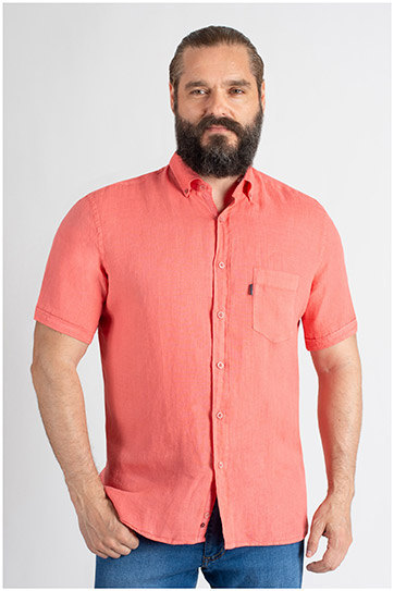 Camisas, Sport Manga Corta, 109619, CORAL