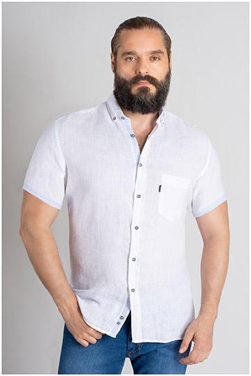 Camisas, Sport Manga Corta, 109619, BLANCO