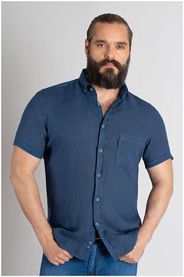 Camisas, Sport Manga Corta, 109619, MARINO