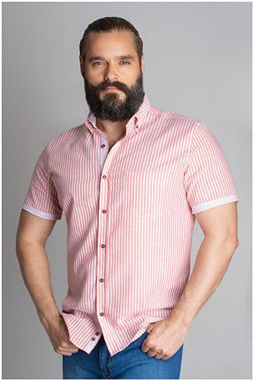 Camisas, Sport Manga Corta, 109620, CORAL