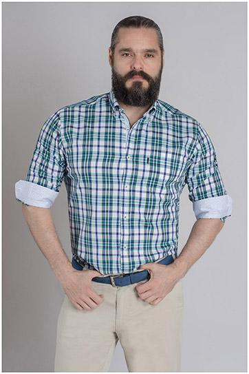 Camisas, Sport Manga Larga, 109621, VERDE