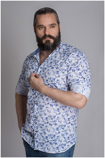 Camisas, Sport Manga Larga, 109623, CELESTE