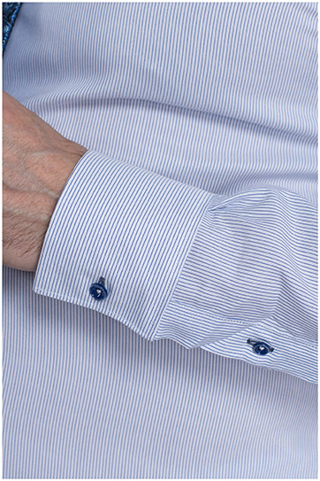 Camisas, Vestir Manga Larga, 109627, CELESTE