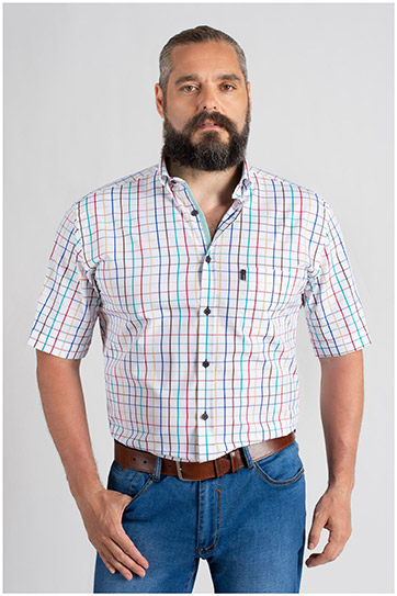 Camisas, Sport Manga Corta, 109655, BLANCO