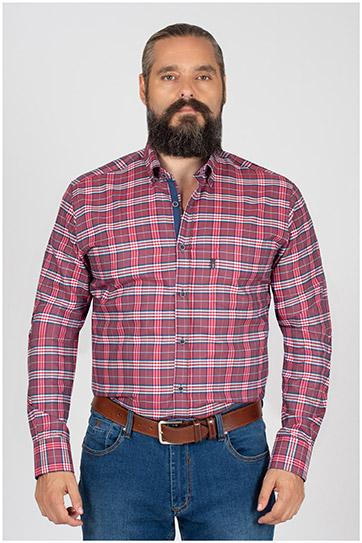 Camisas, Sport Manga Larga, 109840, GRANATE