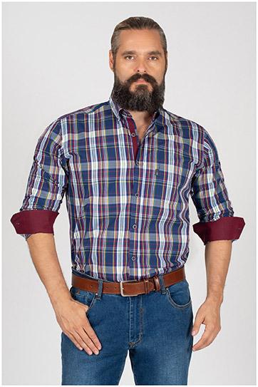 Camisas, Sport Manga Larga, 109841, MARINO