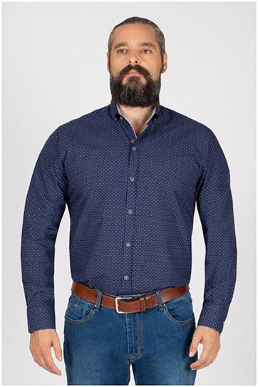 Camisas, Sport Manga Larga, 109844, MARINO