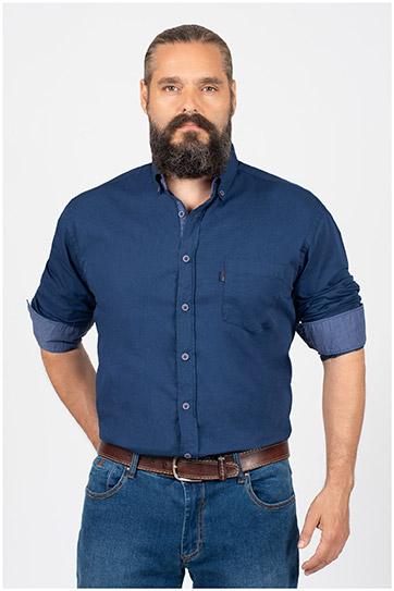 Camisas, Sport Manga Larga, 109846, MARINO