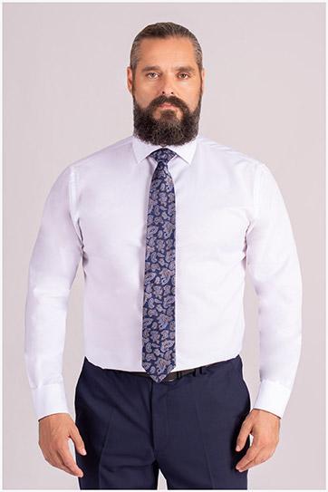Camisas, Vestir Manga Larga, 109849, BLANCO