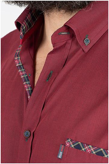 Camisas, Sport Manga Larga, 109853, GRANATE