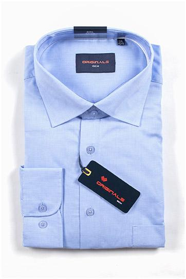 Camisas, Vestir Manga Larga, 109909, CELESTE