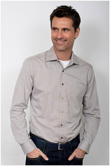 Camisas, Vestir Manga Larga, 109909, BEIGE