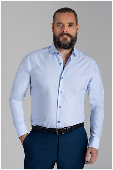 Camisas, Vestir Manga Larga, 110051, CELESTE