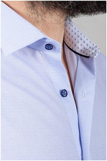 Camisas, Vestir Manga Larga, 110052, CELESTE