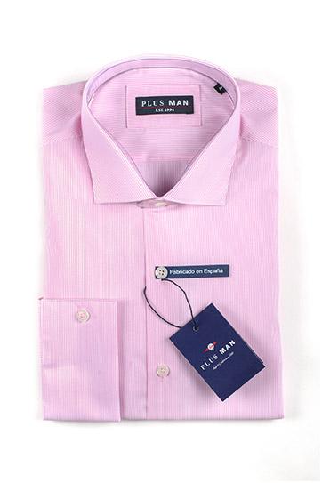 Camisas, Vestir Manga Larga, 110053, ROSA
