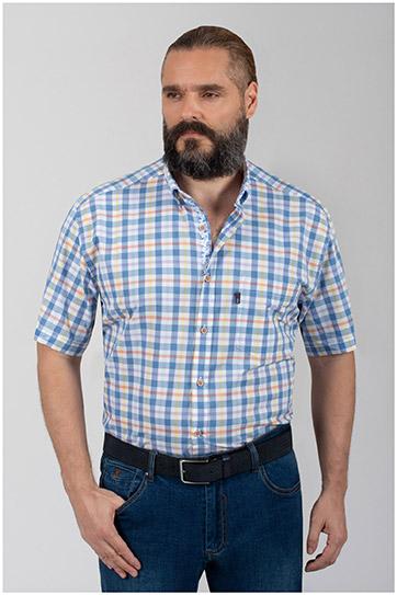 Camisas, Sport Manga Corta, 110059, CELESTE